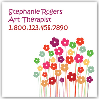 Floral, Custom, Square, Unique,Business Cards