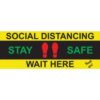 Floor,Decal,Coronavirus,COVID-19,Sign,Signage,Social Distancing