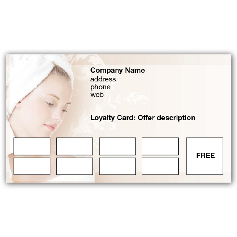 Home Business Cards Loyalty Cards Day Spa Loyalty Cards