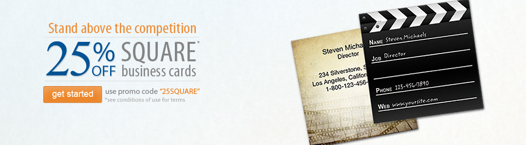 25% off Square Business Cards
