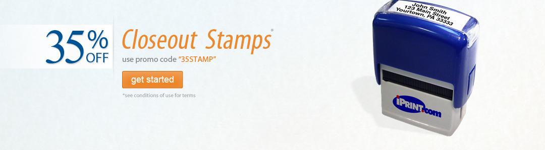 35% off Closeout Stamps