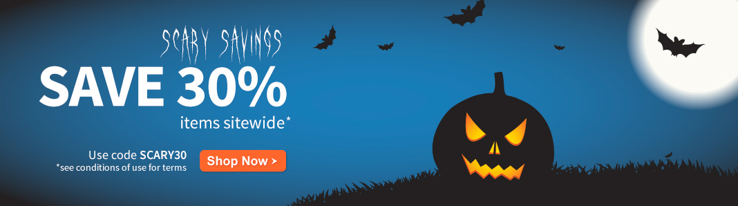 Scary savings: Save 30% on items sitewide
