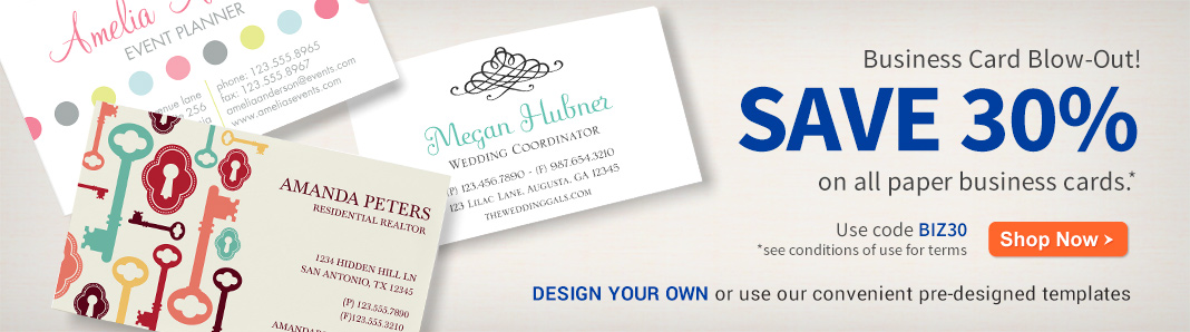 30% off Business Cards